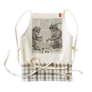 Apes playing cards zazzle HEART apron