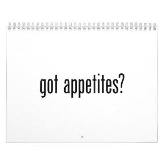 apetitos conseguidos calendarios