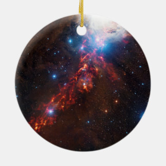 APEX View of a Star Formation in the Orion Nebula Ornaments