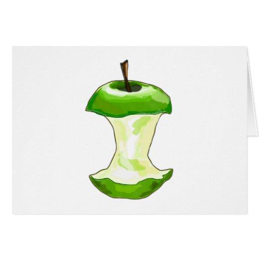 Apfel Apfelgehäuse Apfelbutzen apple core Tarjeta De Felicitación