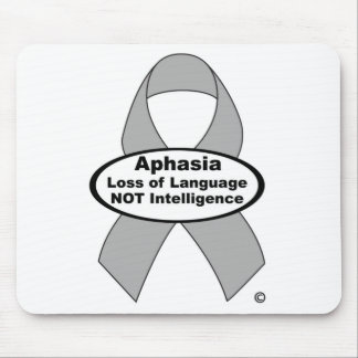 Aphasia Awareness Silver Ribbon Product Mouse Pad