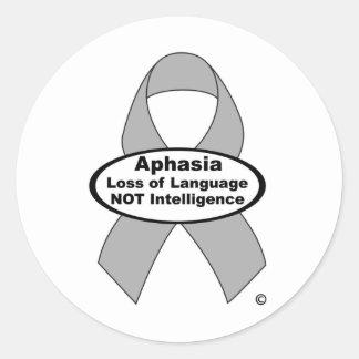 Aphasia Awareness sticker