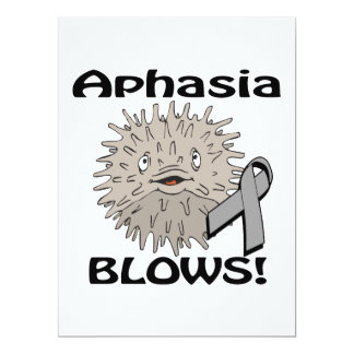 Aphasia Blows Awareness Design Personalized Announcement