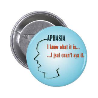Aphasia 2 Inch Round Button