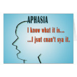 Aphasia Greeting Card