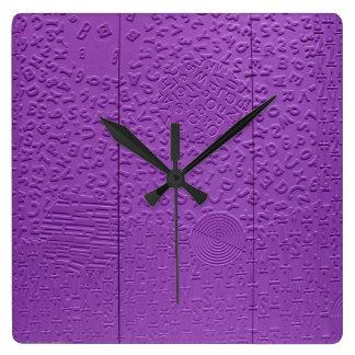 Aphasia in Purple Wallclocks