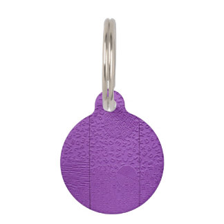 Aphasia in Purple Pet ID Tag