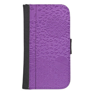 Aphasia in Purple Galaxy S4 Wallet Case
