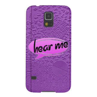 "Aphasia in Purple ""Hear Me"" Galaxy S5 Case"