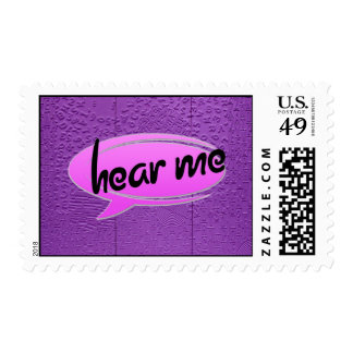 """Aphasia in Purple """"Hear Me"""" Stamp"""
