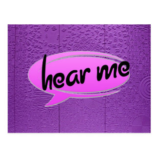 """Aphasia in Purple """"Hear Me"""" Post Cards"""