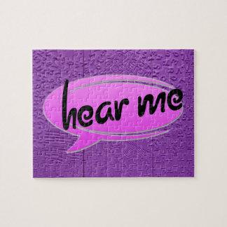 Aphasia in Purple Hear Me Puzzle