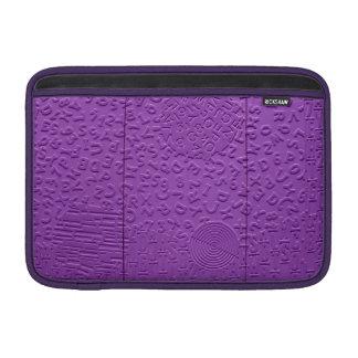 Aphasia in Purple MacBook Sleeve