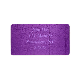 Aphasia in Purple Personalized Address Label