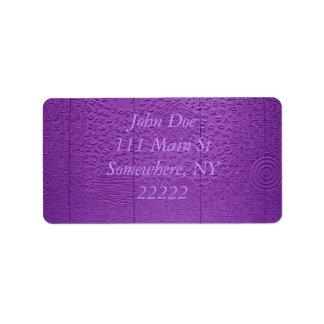 Aphasia in Purple Label