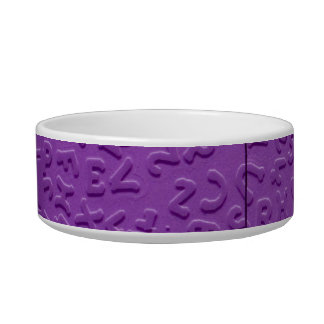 Aphasia in Purple Pet Water Bowl