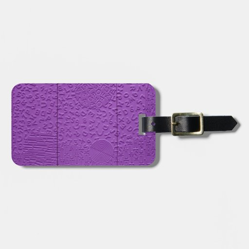 Aphasia in Purple Tag For Bags