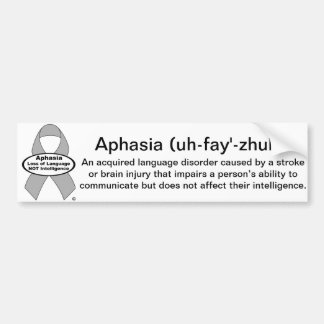 Aphasia Silver Ribbon Bumper Sticker