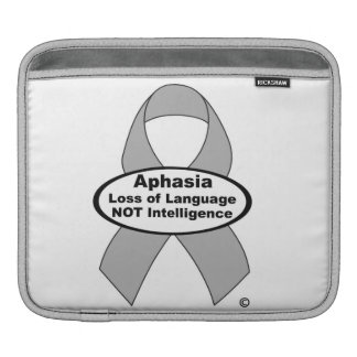 Aphasia Silver Ribbon Ipad Sleeve