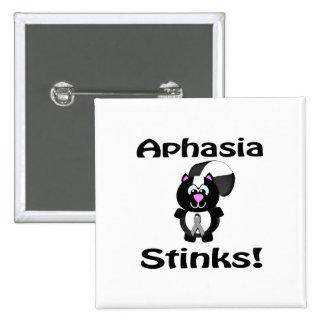 Aphasia Stinks Skunk Awareness Design Button