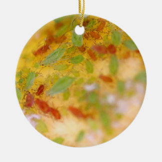 Aphids Double-Sided Ceramic Round Christmas Ornament