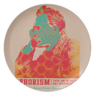 Aphorism -Friedrich Nietzsche- Plate