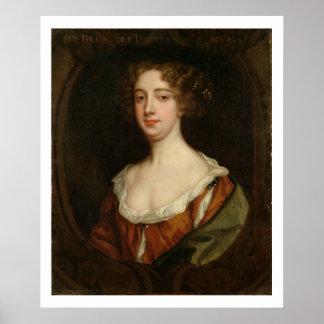 Aphra Behn (1640-89) (aceite en lona) Póster