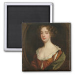 Aphra Behn (1640-89) (oil on canvas) 2 Inch Square Magnet