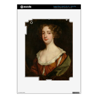 Aphra Behn (1640-89) (oil on canvas) iPad 3 Decals