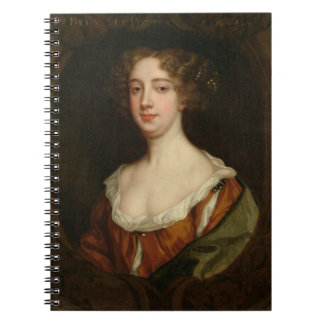 Aphra Behn (1640-89) (oil on canvas) Notebook