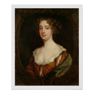 Aphra Behn (1640-89) (oil on canvas) Poster