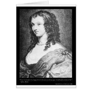 Aphra Behn Love Quote tees cards gifts etc Greeting Card