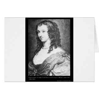 Aphra Behn Love Quote tees cards gifts etc Card