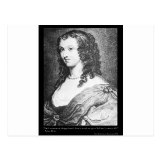 Aphra Behn Love Quote tees cards gifts etc Postcards
