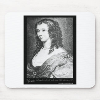 "Aphra Behn ""Lovers Hour"" Quote On Gifts Mugs Tees Mouse Pad"