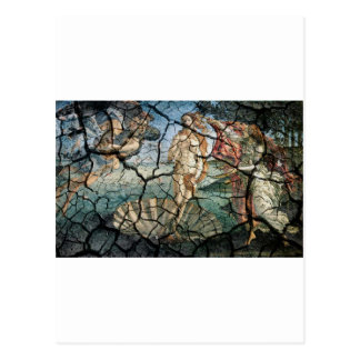 Aphrodite agrietado tarjeta postal