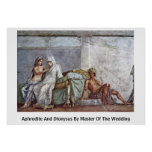 Aphrodite And Dionysus By Master Of The Wedding Print