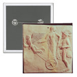 Aphrodite and Hermes riding on a chariot 2 Inch Square Button