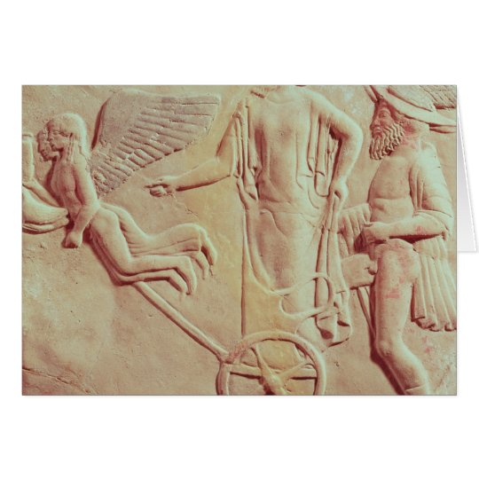Aphrodite and Hermes riding on a chariot Card