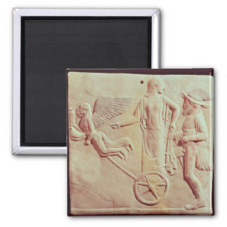Aphrodite and Hermes riding on a chariot Magnet