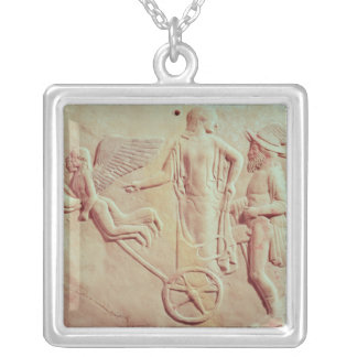 Aphrodite and Hermes riding on a chariot Personalized Necklace