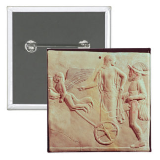 Aphrodite and Hermes riding on a chariot Pinback Button