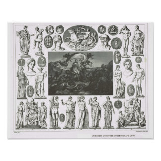 Aphrodite and other gods and goddesses poster