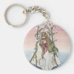 Aphrodite Basic Round Button Keychain