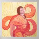Aphrodite in Apricot print