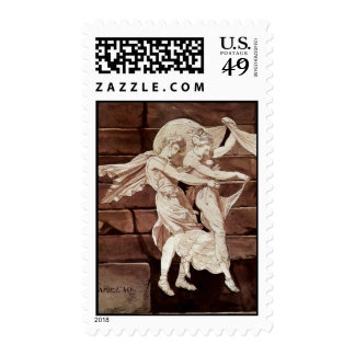 Aphrodite Leads Paris To A Duel With Menelaus By J Postage Stamps