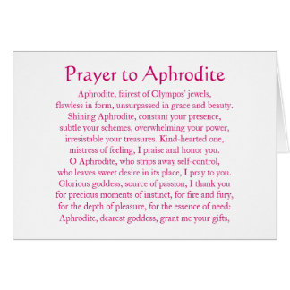 Aphrodite Notecard Tarjeta Pequeña