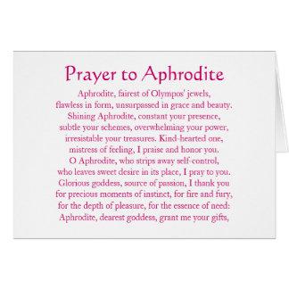 Aphrodite Notecard Tarjetón