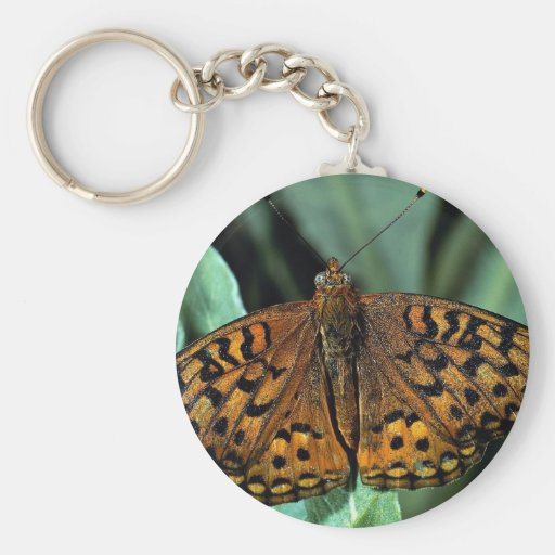 Aphrodite on green leaves keychain