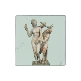 Aphrodite, Pan and Eros Stone Magnet